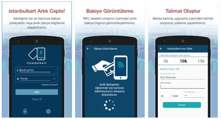 istanbul kart uygulaması android