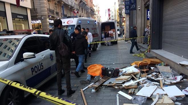 istiklal caddesi işçi ölüm