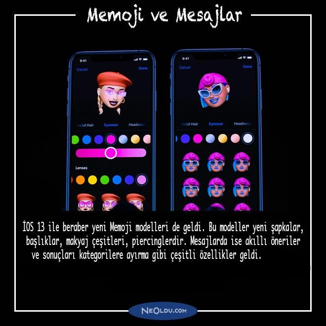 ios 13 Memoji ve Mesajlar