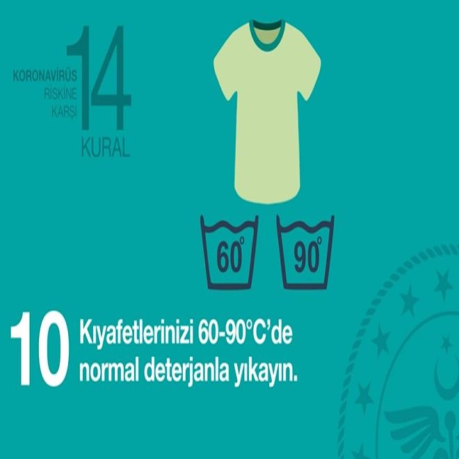 Koronavirüs riskine karşı 14 altın kural