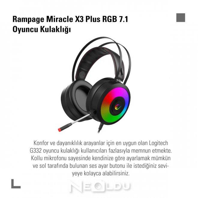 Rampage Miracle X3 Plus RGB 7.1