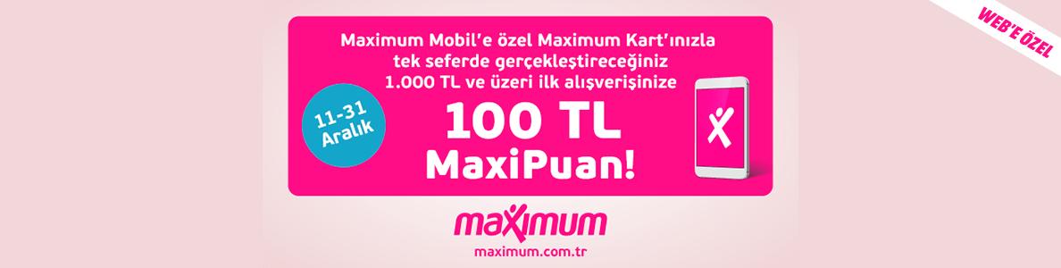 maximum kart media markt kampanyası 100 tl