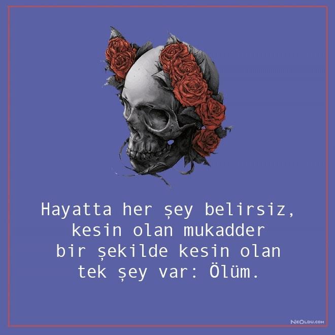 ölümle ilgili sözler