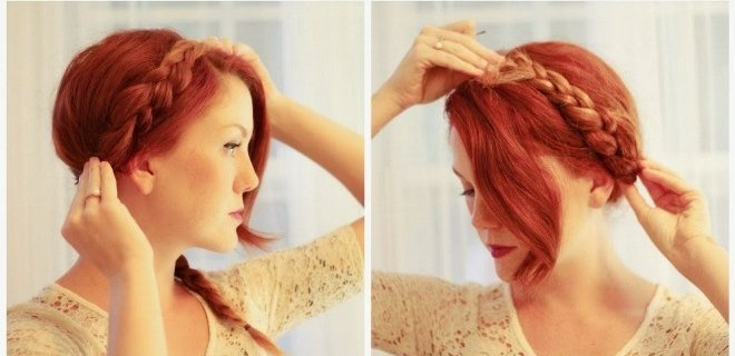 örgü saç modeli