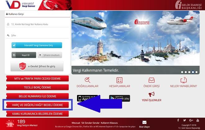 Pasaport Online Harç Ödeme