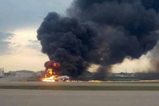 Rusya Uçak Yangın