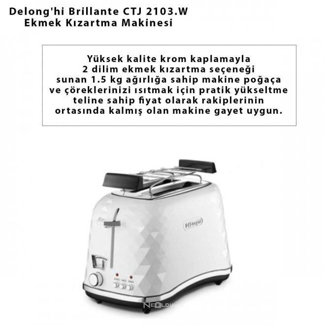 Delong'hi Brillante CTJ 2103.W Ekmek Kızartma Makinesi