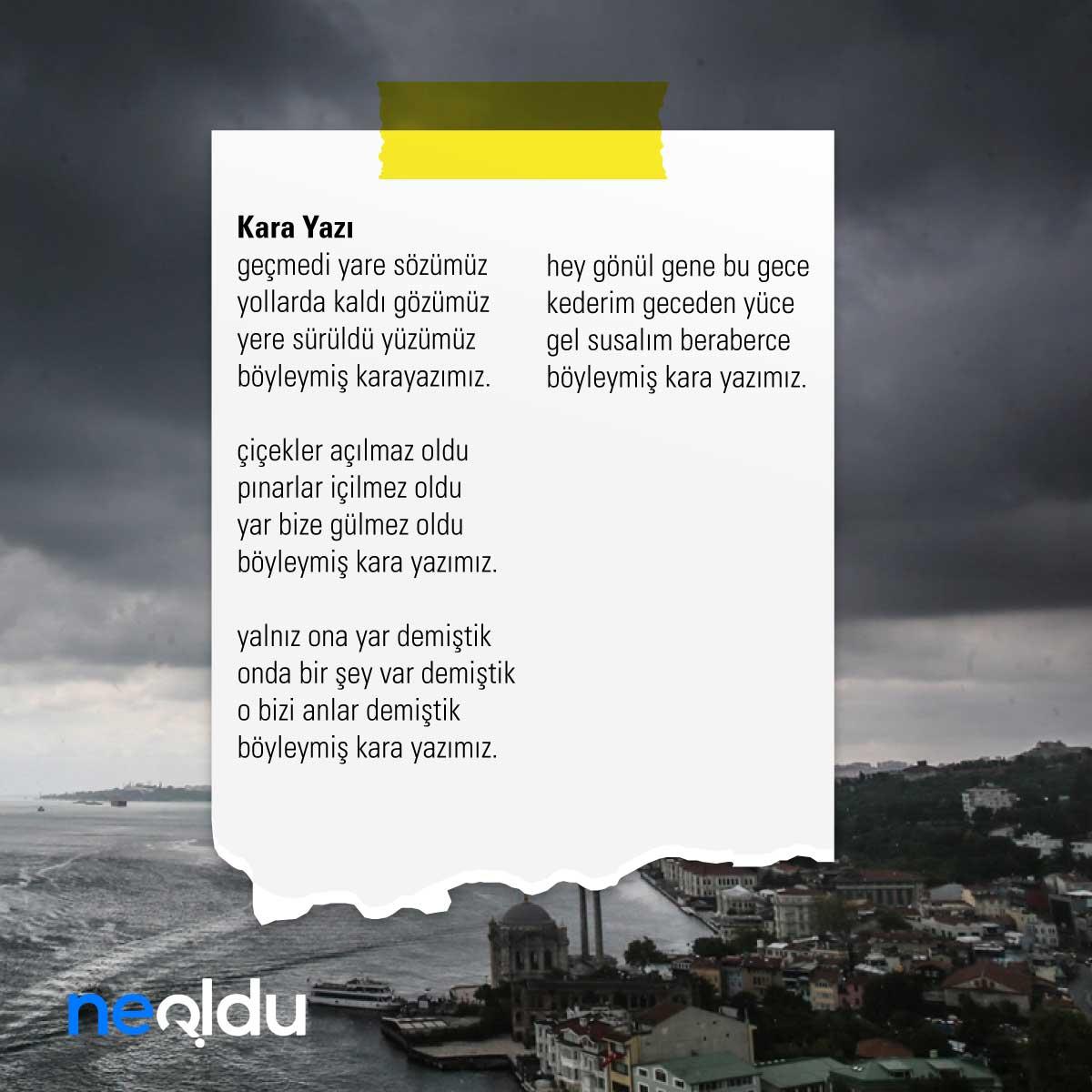 Sabahattin Ali Şiirleri