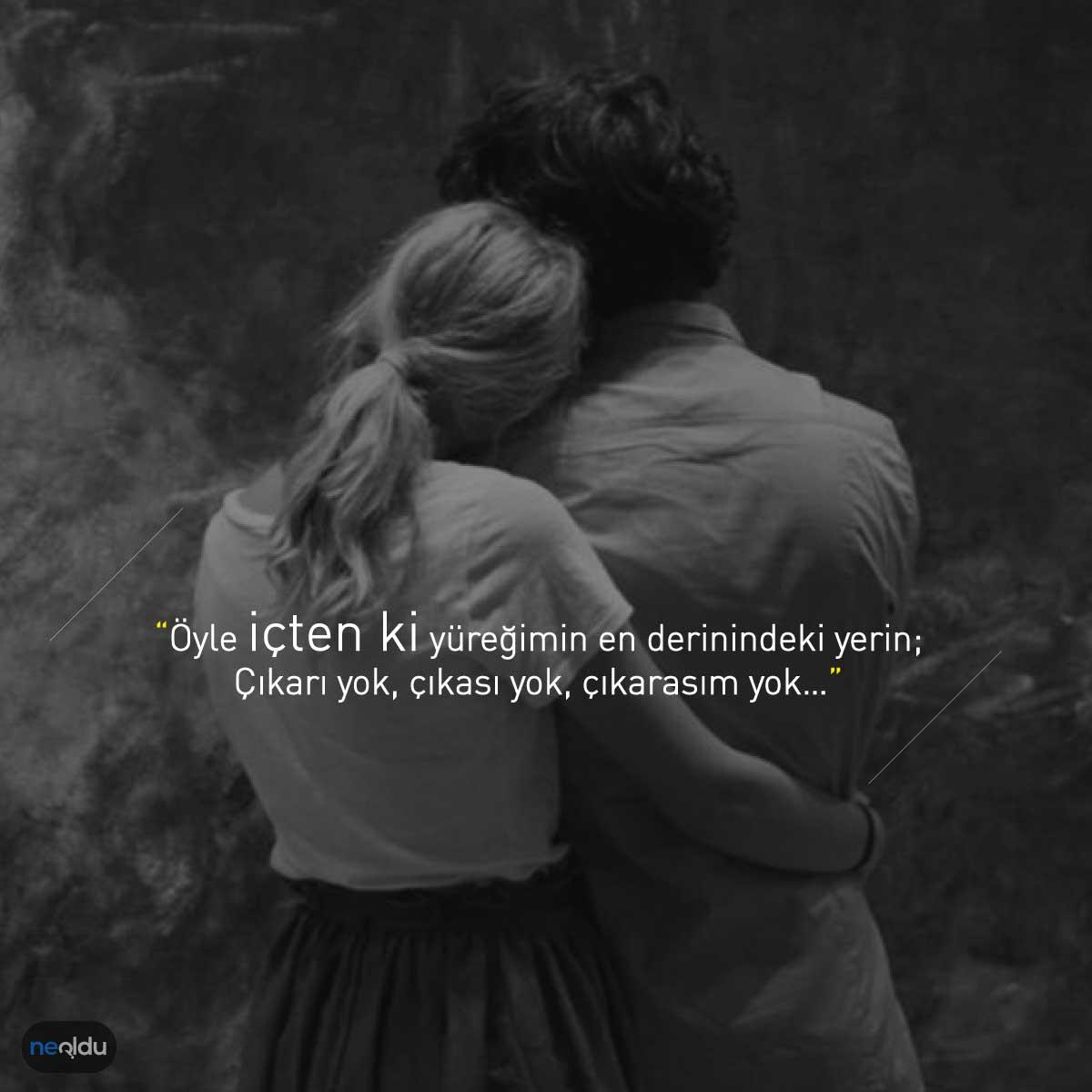 Sevgiliye aşk sözleri