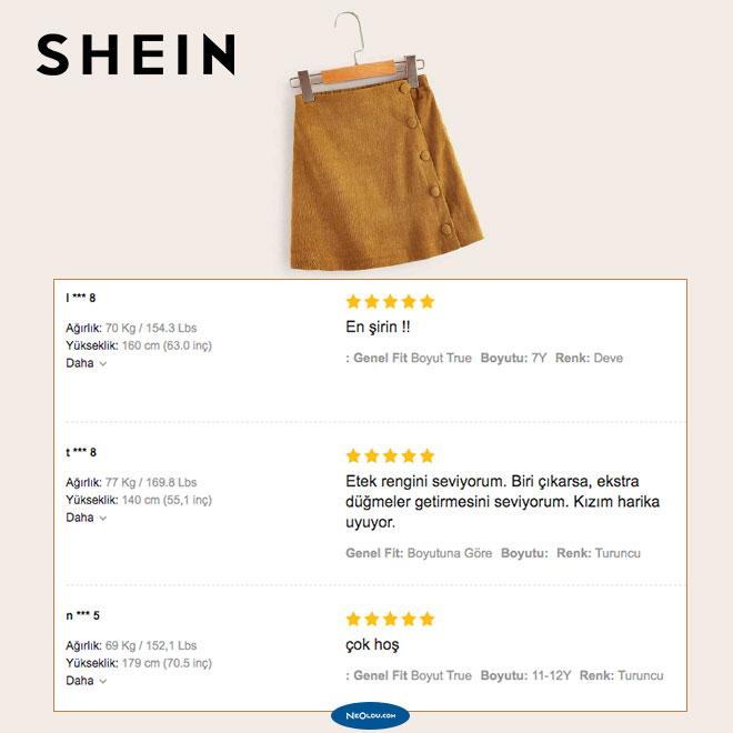 Shein Kullanıcı Yorumları