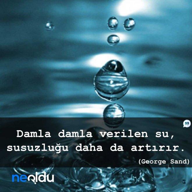 su ile ilgili sözler