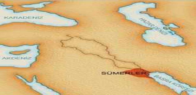 sümerler harita