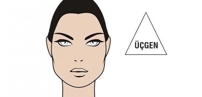 üçgen yüz şekli