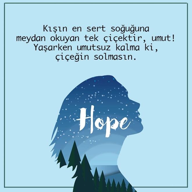 umutla ilgili sözler
