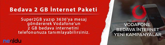 Vodafone Bedava İnternet Paketleri