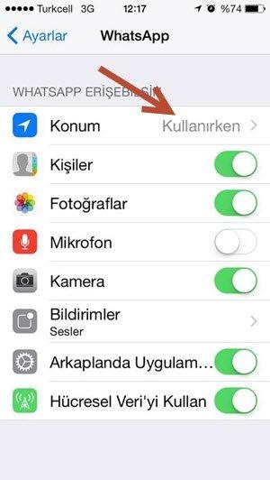 whatsapp konum özellikleri