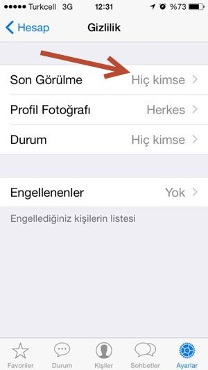 whatsapp son görülme