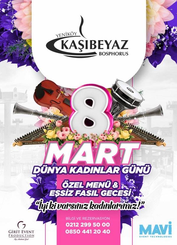 Yeniköy Kaşıbeyaz Bosphorus 8 Mart 2019 Dünya Kadınlar Günü Programı