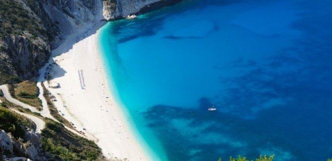 Myrtos Beach Kefalonia Yunanistan