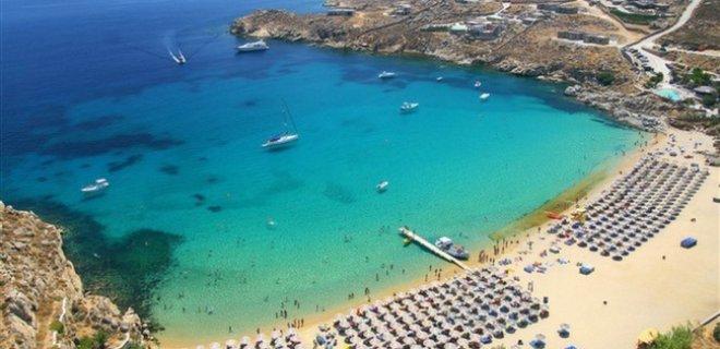 Paradise Beach Mykonos Yunanistan