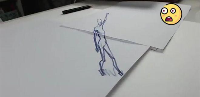 Dans Eden 3 Boyutlu Çizimler!